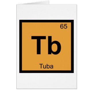 TB - Símbolo de la tabla periódica de la química Tarjeta De Felicitación