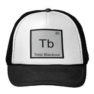 TB - Símbolo divertido del elemento de la química  Gorros