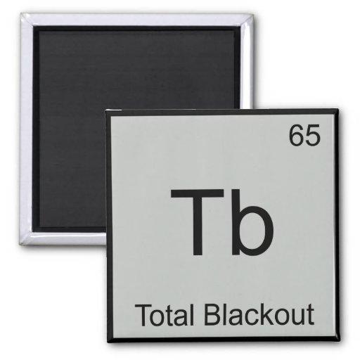 TB - Símbolo divertido del elemento de la química  Imán Cuadrado