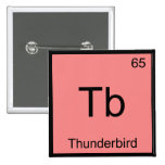 Tb - Thunderbird Funny Chemistry Element Symbol T Pinback Buttons