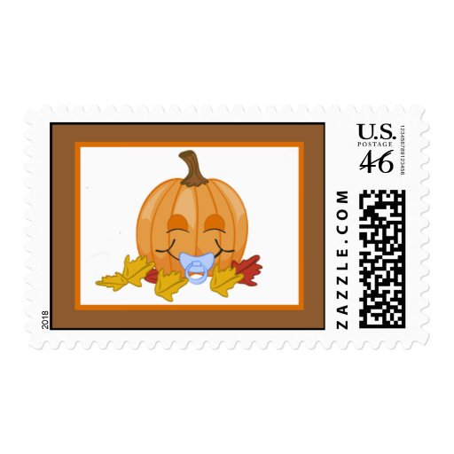 {TBA} 20 Postage Stamps Autumn Fall Pumpkin Baby