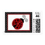 {TBA} 20 Postage Stamps Pink Ladybug