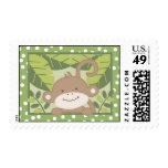 {TBA} 20 Postage Stamps Safari Jungle Monkey Green