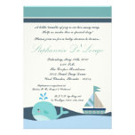 {TBA} 5x7 Nautical Boat Baby Shower Invitation Personalized Announcements