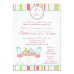 {TBA} 5x7 Trendy Tea Party Baby Shower Invitation Invites