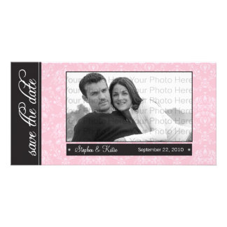 """{TBA} 8x4"""" Baroque Pink Save the Date Announcement"""