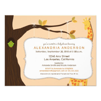 {TBA} Adorable Baby Tree Baby Shower Invite: peach