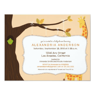 {TBA} Adorable Baby Tree Baby Shower Invite: peach Card
