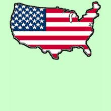 American Map Flag T-Shirt