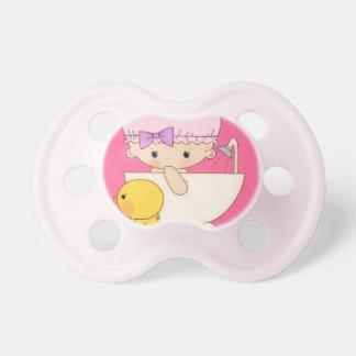 TBA Baby Girl Cartoon In Bath Cap Soap Rubber Duck Pacifier