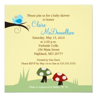 {TBA} Birdie Woodland 5x5 Baby Shower Invitation
