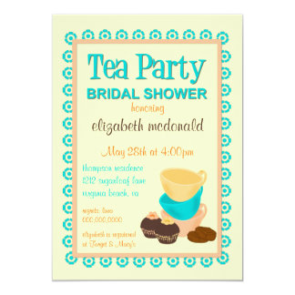 TBA - Bridal Shower Tea Party Invitation