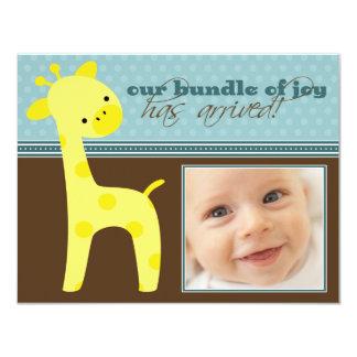 {TBA} Bundle of Joy Giraffe Birth Announcement