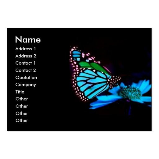 -TBA - Butterfly in Blue Light Business Card Templates