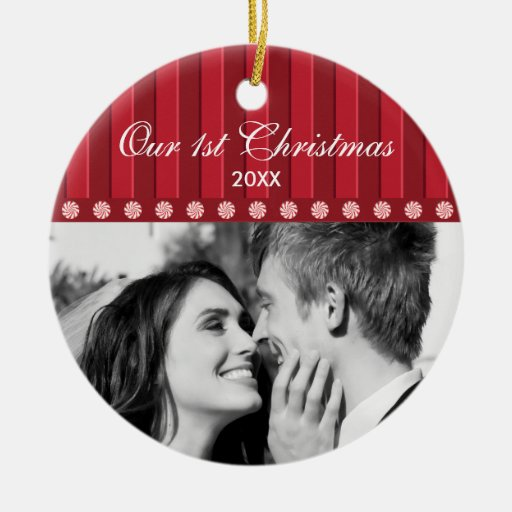 {TBA} Candy & Stripes Our First Christmas Ornament