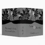 TBA - Carpeta floral gris y negra del boda