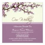 {TBA} Cherry Blossom Wedding Invitation (lilac)