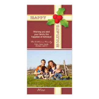 {TBA} Christmas Gift Family Holiday Photocard Photo Card