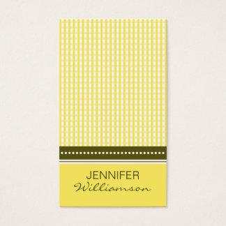 {TBA} :: custom design yellow gingham :: Business Card