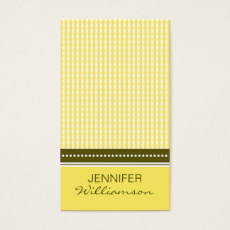 {TBA} :: custom design yellow gingham :: Business Card