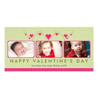 {TBA} Customized Sweet Valentine's Day 3-Photo Photo Card