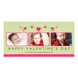 {TBA} Customized Sweet Valentine's Day 3-Photo Photo Cards