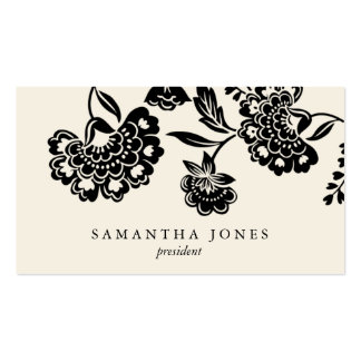 {TBA} damask floral calling card Business Card