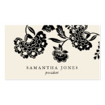{TBA} damask floral calling card Business Cards