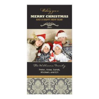 {TBA} Damask Pattern Family Holiday Photocard Photo Card