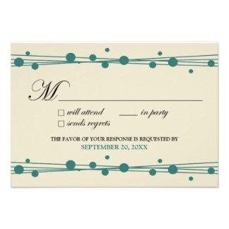 {TBA} Dots & Straw RSVP Card (ivory/green) Custom Invite