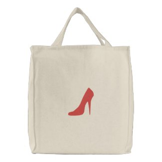 TBA Embroidered Red Shoe On Bag