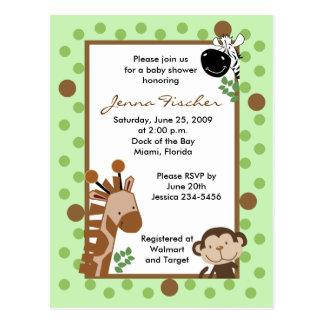 {TBA} Fiesta de bienvenida al bebé del safari de l Tarjeta Postal