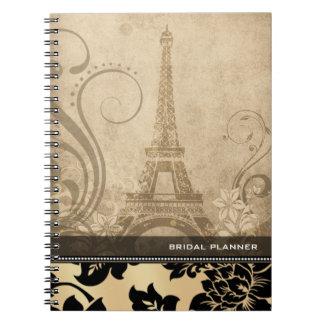 ::TBA:: Fleur de Paris   sand Bridal Planner Notebook