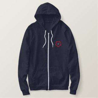 TBA Floral Embroidered Ladies Zip up Hoodie Jacket