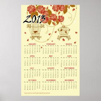 TBA Flores y calendario 18 de los Birdcages Poster
