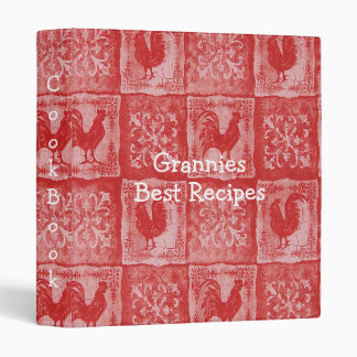 TBA French Country Grannies Old Kitchen Tablecloth Vinyl Binders