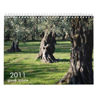 (TBA) greek nature Wall Calendar