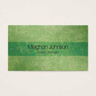 {TBA} Grunge Floral Green Trendy Business Card