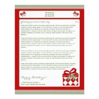 {TBA} Holiday Annual Newsletter Letterhead: gift Letterhead