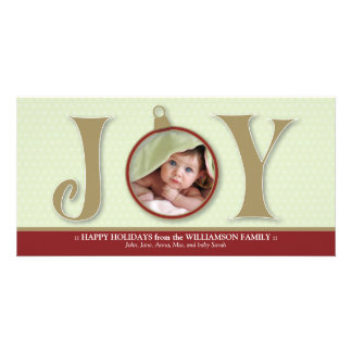 {TBA} Holiday Joy Custom Family Photocard (red) Card