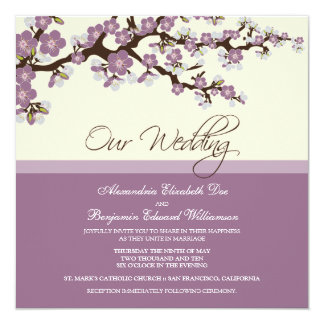 {TBA} Invitación del boda de la flor de cerezo Invitación 13,3 Cm X 13,3cm