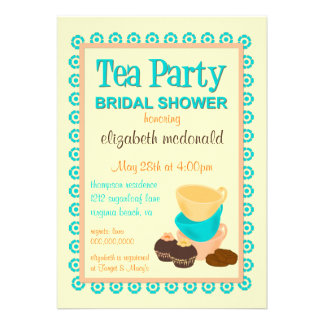 TBA - Invitación nupcial de la fiesta del té de la