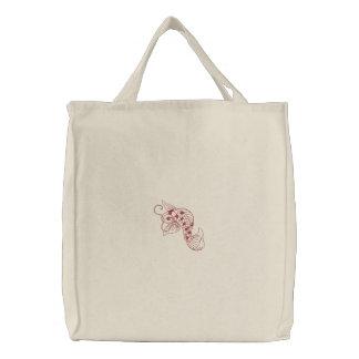{TBA} Koi fish embroidered reusable canvas bag