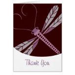 TBA: La libélula estilizada le agradece cardar Felicitación