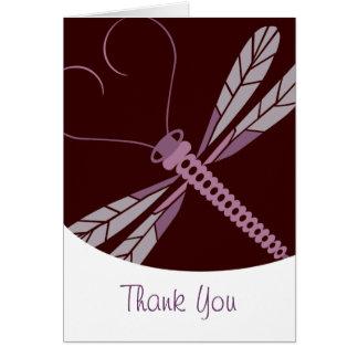 TBA: La libélula estilizada le agradece cardar Tarjeta Pequeña