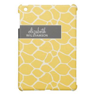 {TBA} Lemon Yellow Giraffe Pern iPad Mini Cases