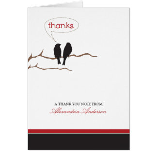{TBA} Little Birdies Custom Thank You Card (black)