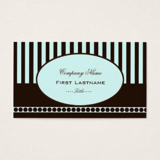 (TBA) Mint Stripe Business Card