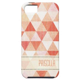 ::TBA:: Modern Lines geometric peach iPhone 5 Cover