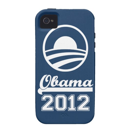 {TBA} OBAMA 2012 iPhone 4 Tough Case-Mate (navy)
